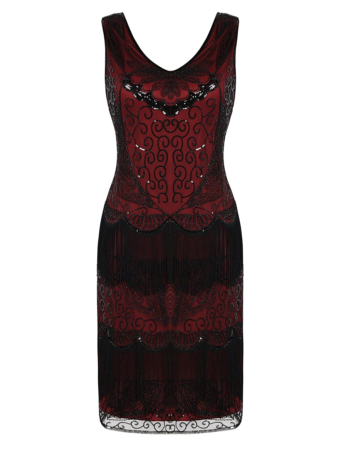 c15d9f29 Beads and sequin embellished,stunning flapper dress. V neck,zipper closure  in the side(size M/US8-10,L/US12,XL/US14,XXL/US16)