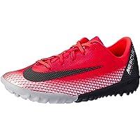Nike Australia Boys Jr Vapor 12 Academy PS Cr7 TF Fashion Shoes, Bright Crimson/Black-Chrome-Dark Grey