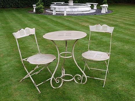 Color crema envejecido estilo vintage estilo de sillas y mesa de ...