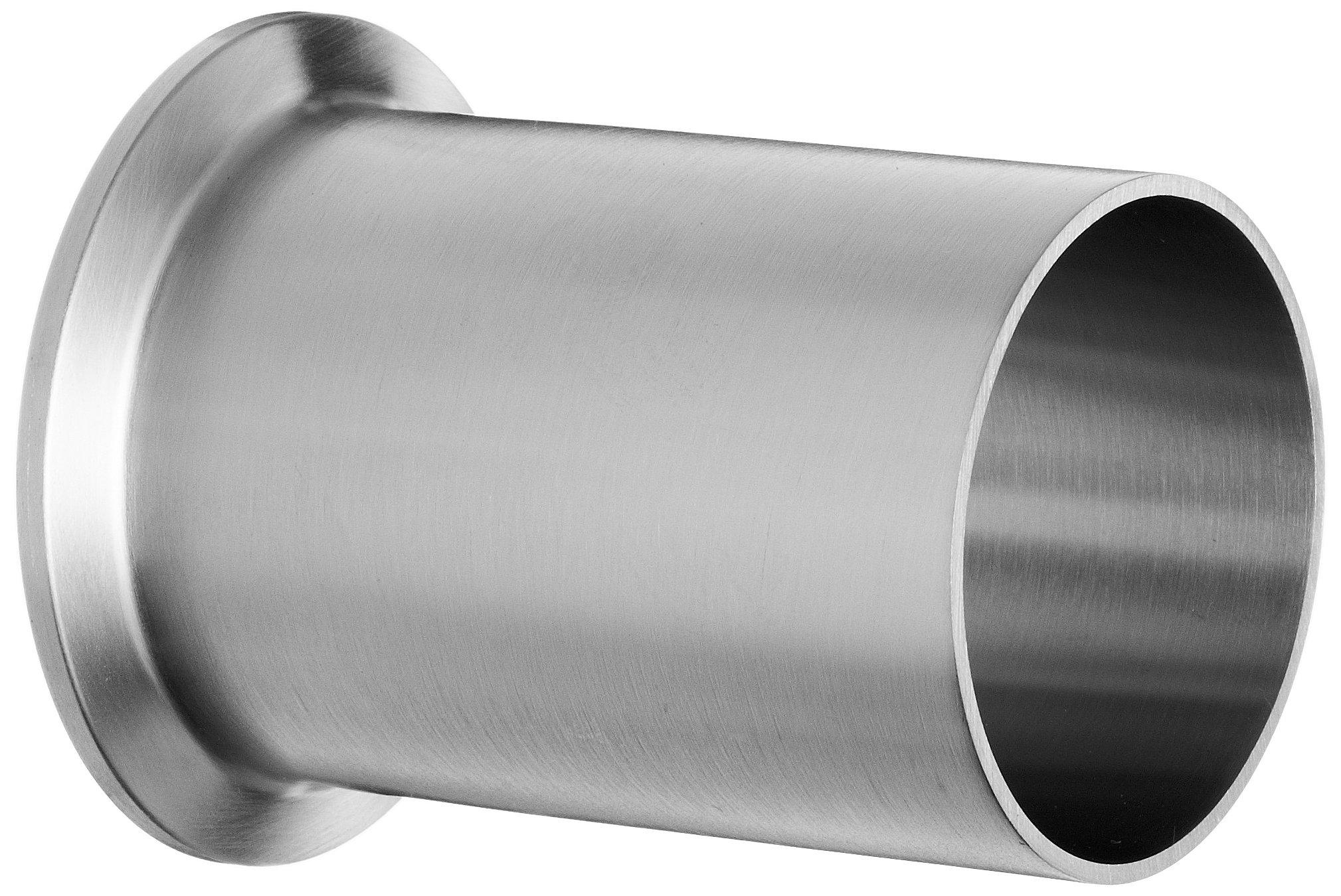 Dixon 14WLMP-R200 Stainless Steel 316L Sanitary Fitting, Light Duty Tank Weld Clamp Ferrule, 2'' Tube OD
