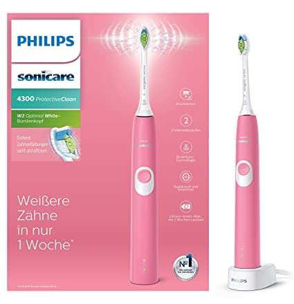 Philips 4300 series HX6805/28 cepillo eléctrico para dientes Adulto Cepillo dental sónico Rosa -