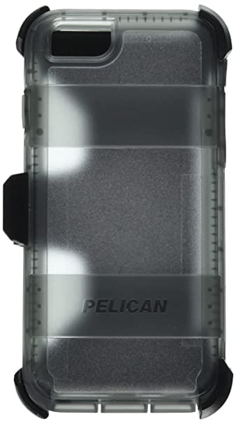new style 7a3c2 0f775 Pelican Voyager Rugged Case with Kickstand Holster for iPhone 6/6s - Retail  Packaging - Clear & Gray