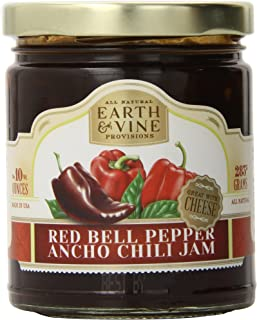 product image for Earth & Vine Provisions Red Bell Pepper and Ancho Chili Jam, 10 Ounce
