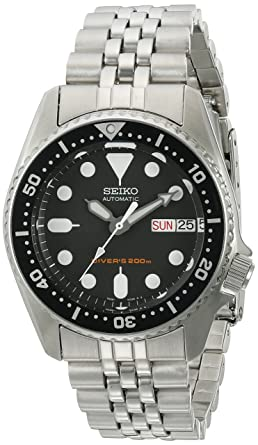Seiko SKX013K2 Black Dial Automatic Divers Midsize Watch