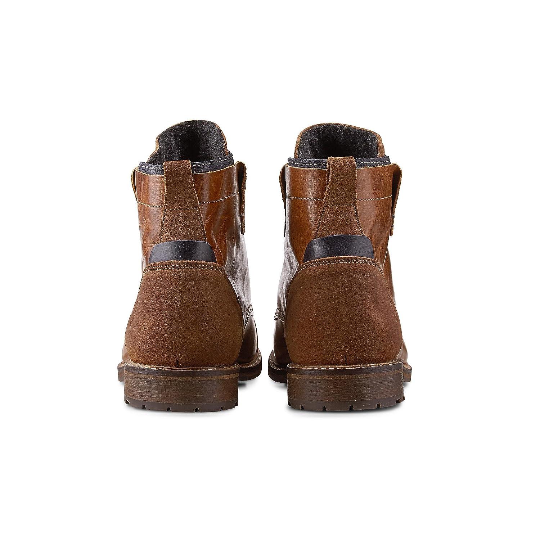 Cox Herren Schnür-Boots Robuster aus Leder, Freizeit-Stiefel in Braun mit Robuster Schnür-Boots Lauf-Sohle Braun-mittel 6481d5