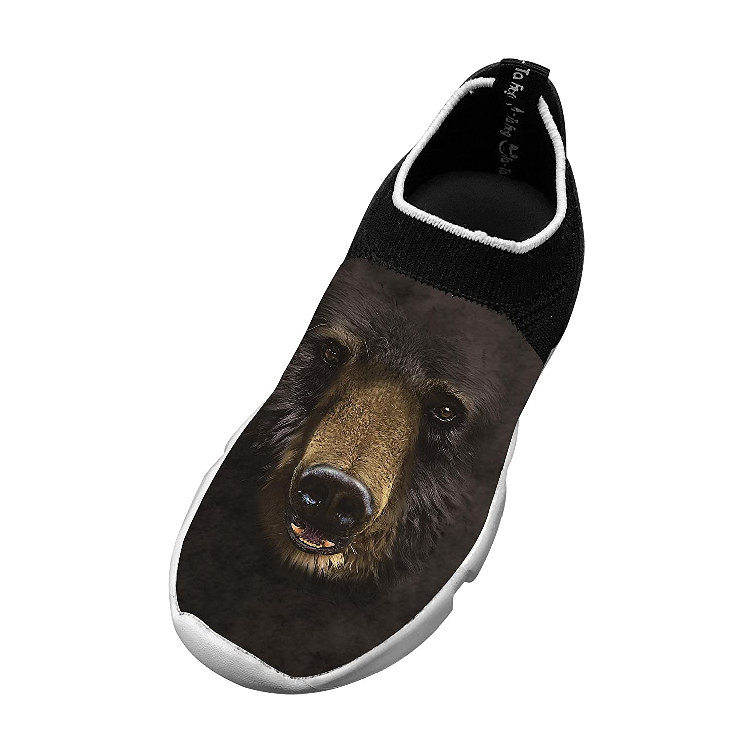 Black Bear Face Most Popular Fly Knit Shoes Kids Casual Sports Sneakers