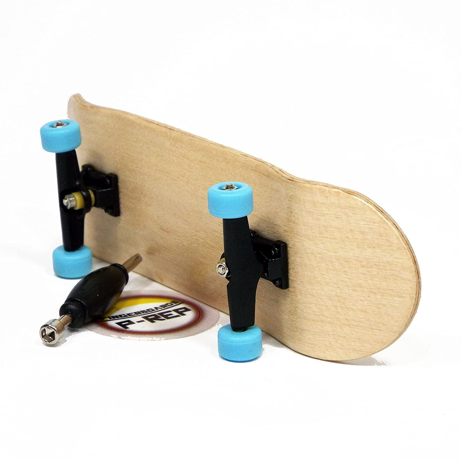 Peoples Republic Maple Complete Wooden Fingerboard with Basic Bearing Wheels Starter Edition