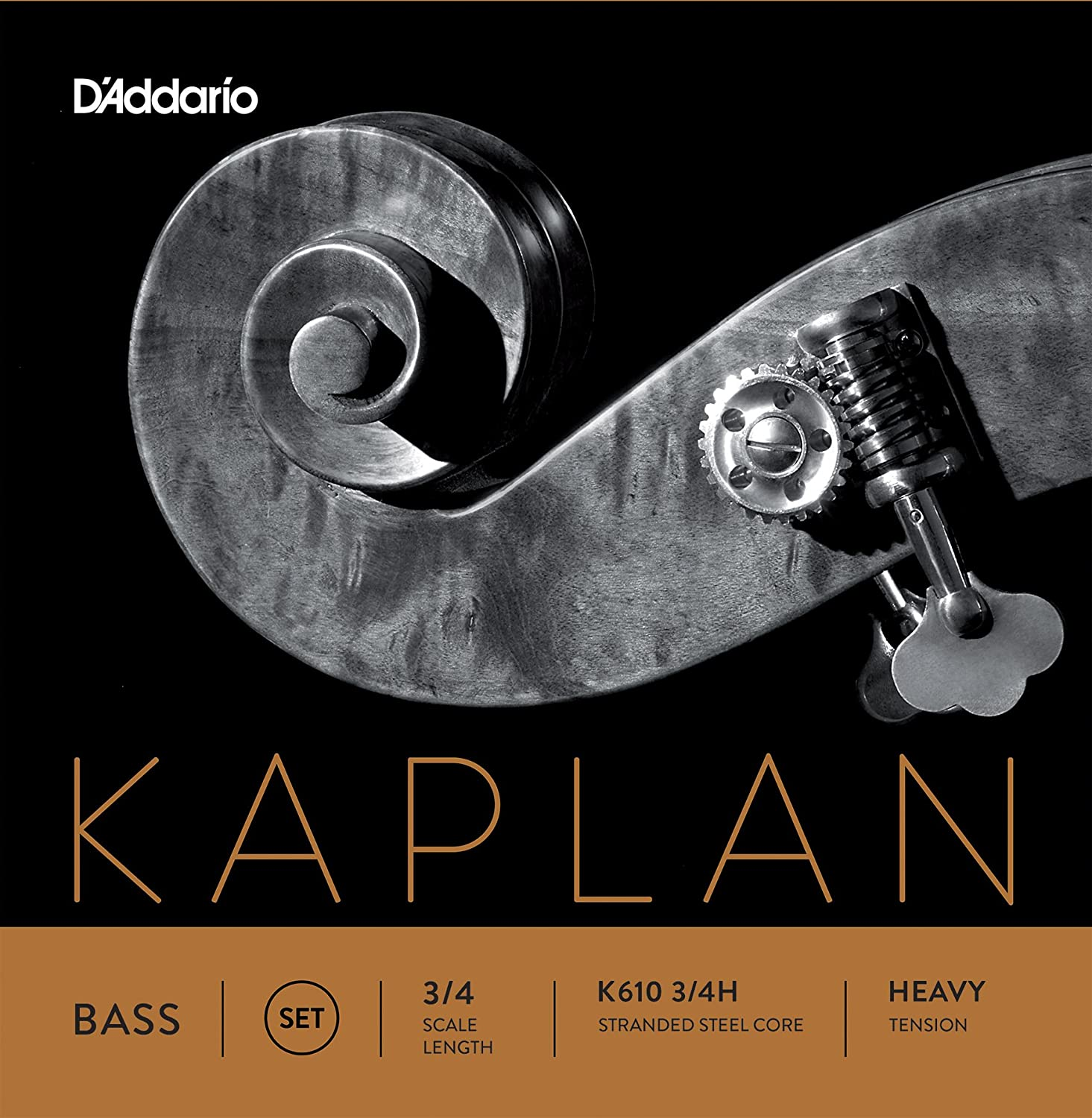 D'Addario Kaplan Bass String Set, 3/4 Scale, Medium Tension D' Addario K610 3/4M