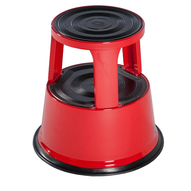 in acciaio a elevata resistenza 0,43m Rosso Summit Ronco Kik Step Sgabello saliscendi per uffici e magazzini conforme alla normativa EN14183