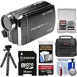 Bell & Howell DV30HD 1080p HD Video Camera Camcorder (Black) with 16GB Card + Case + Flex Tripod + Kit