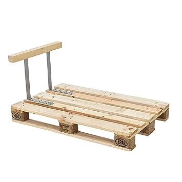 [en.casa]®] Apoyabrazos para sofá- palé/Reposabrazos para europalé - Apariencia de Madera Maciza - Muebles DIY