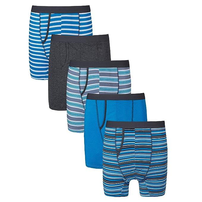 XL 6 Pairs Men Plain Boxer Underwear Classic Cotton Blend Boxers Shorts S