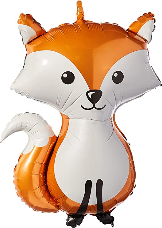 Betallic Foil Balloon 35174P Woodland Fox 36 Multicolor