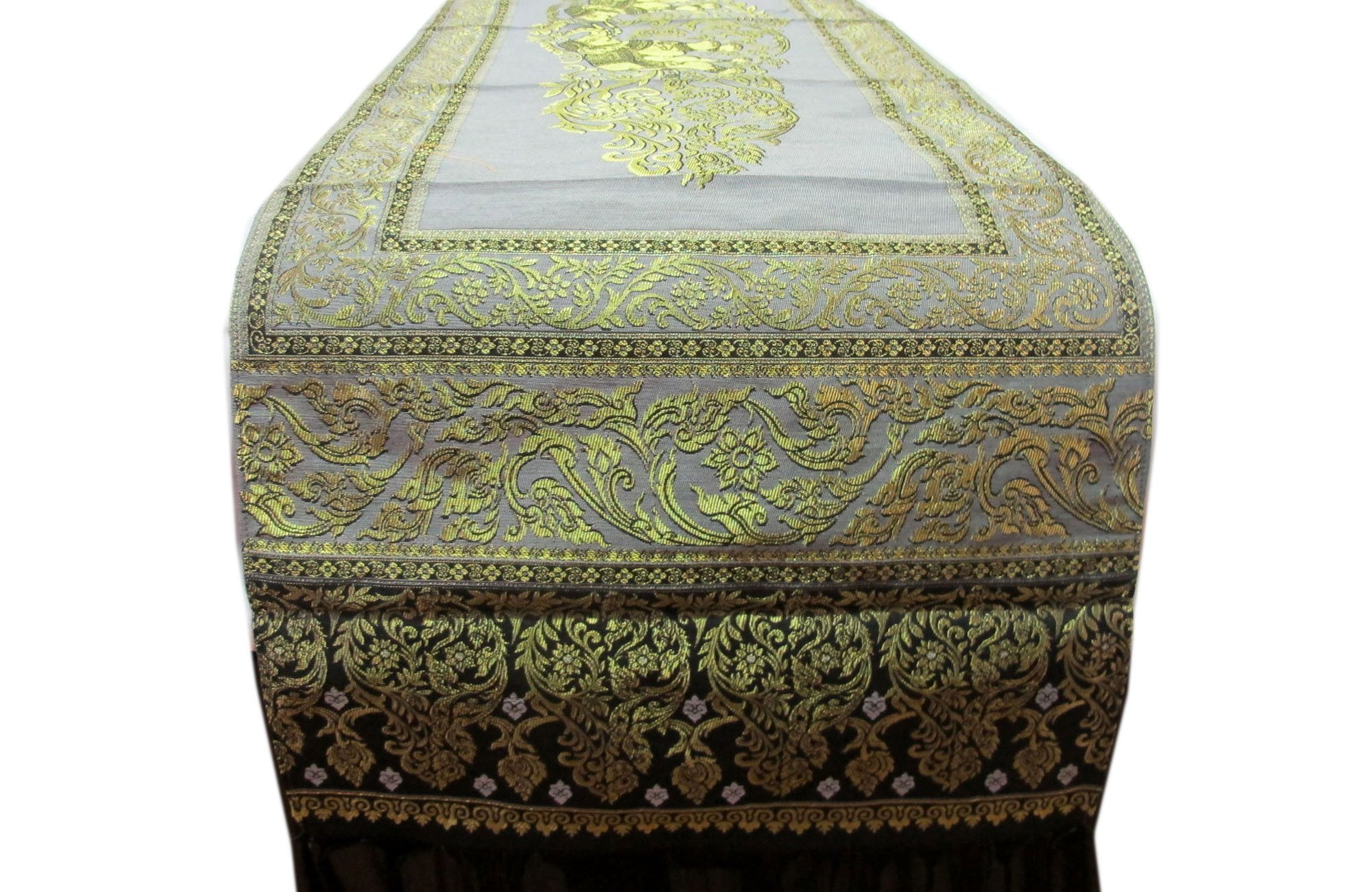 BEAUTIFUL THAI SILK TABLE/BED RUNNER WIDTH 19 INCHES LENGTH 72 INCHES