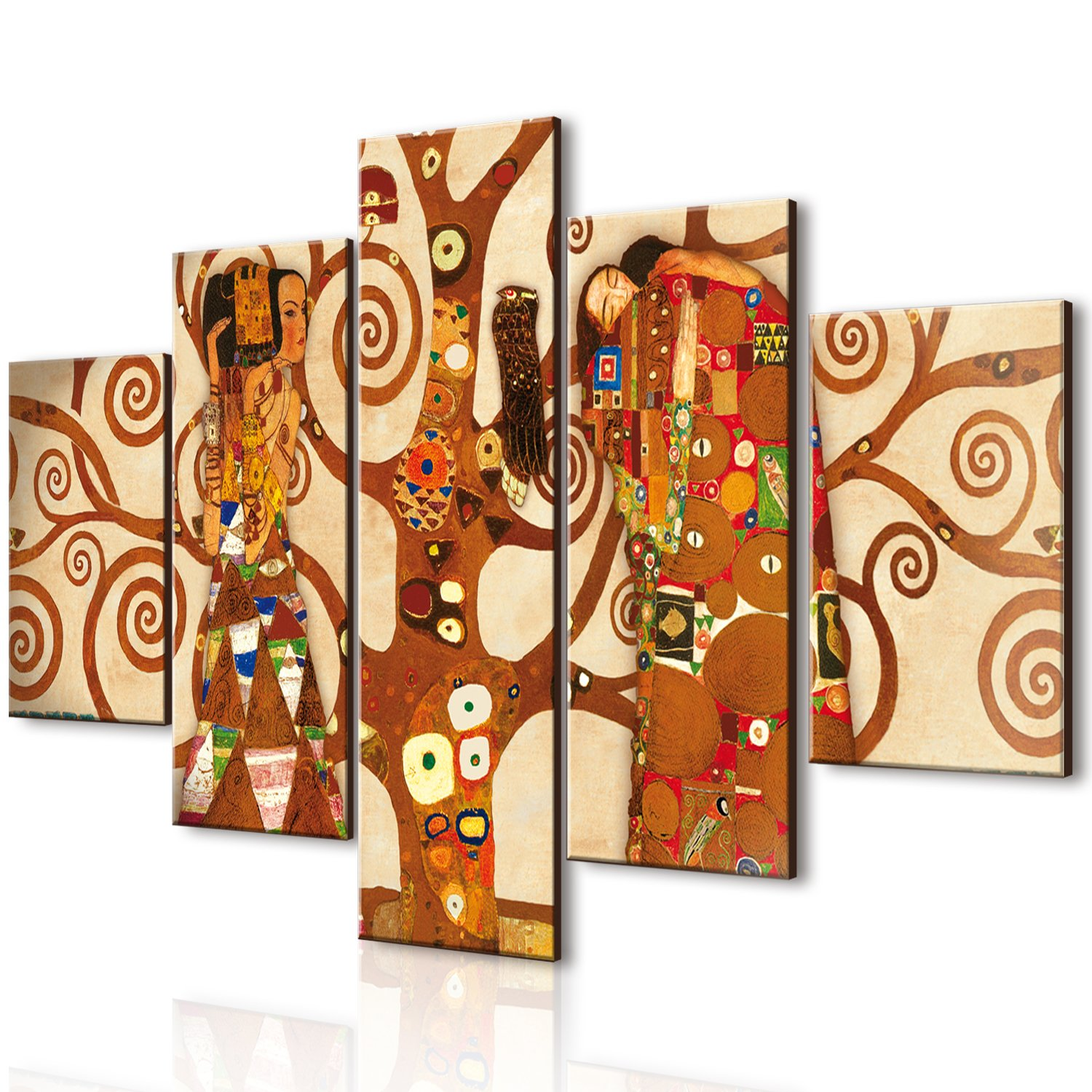 Lupia Vogue Multi-Panel Tree of Life Painting, Wood, Multicoloured, 66 x 115 x 0.8 cm Lupia s.r.l. 8016123060175