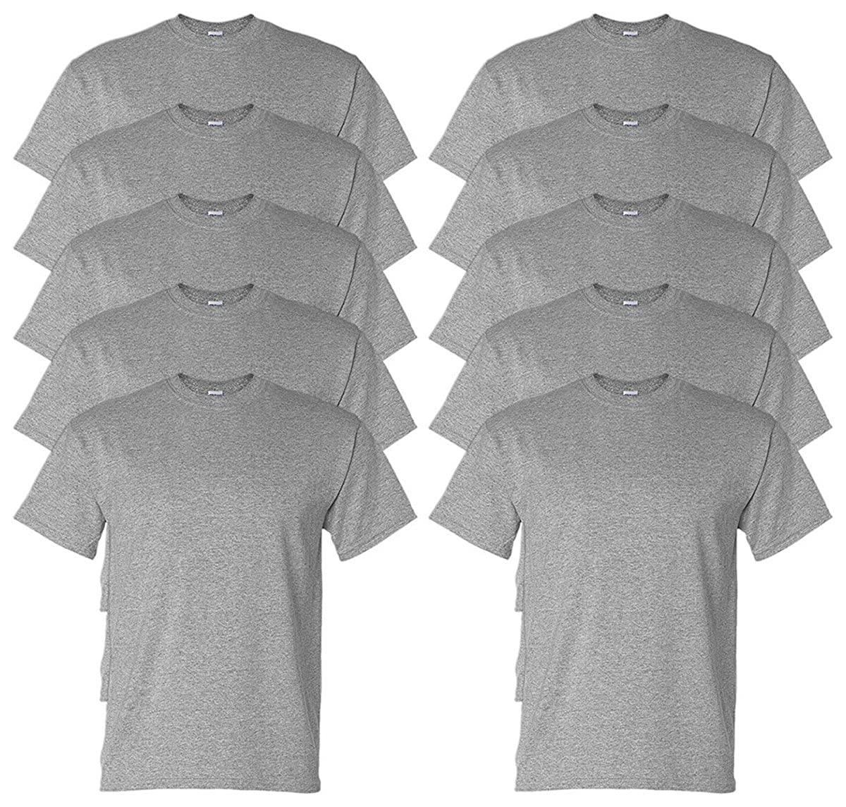 Gildan Adult DryBlend Sports T-Shirt Pack of 10 M Sport Grey