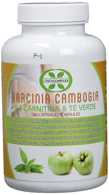 Garcinia cambogia con L-carnitina y té verde para reducir el apetito y  acelerar el metabolismo LINEA COMPLEX 180 capsulas – suplemento alimenticio  con