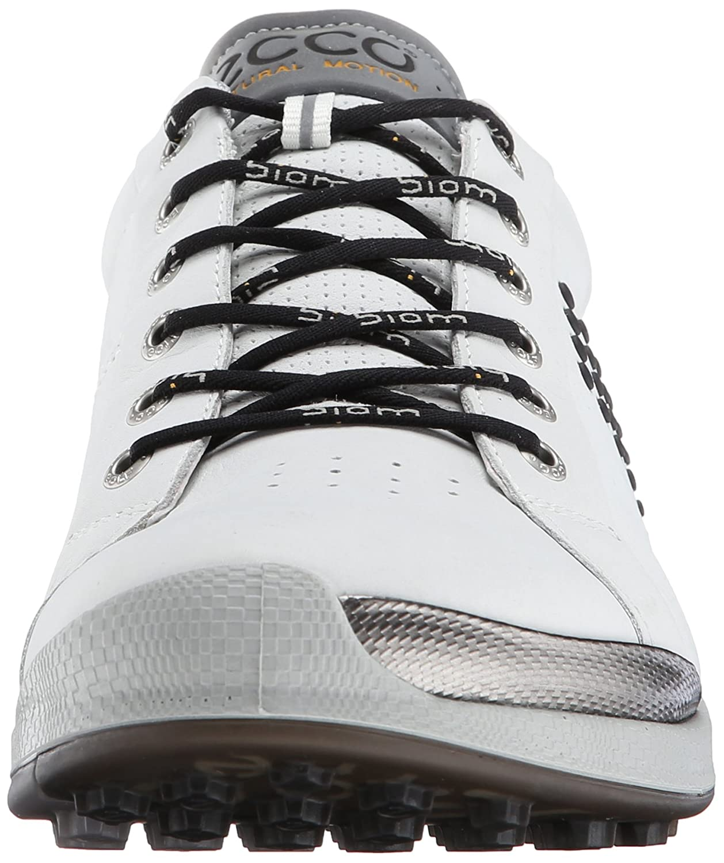 Ecco Golf Biom Hybrid 2 - Zapatos de Golf para Hombre, Multicolor (Concrete/White/DENIUM BLUE56416), Talla 41 EU
