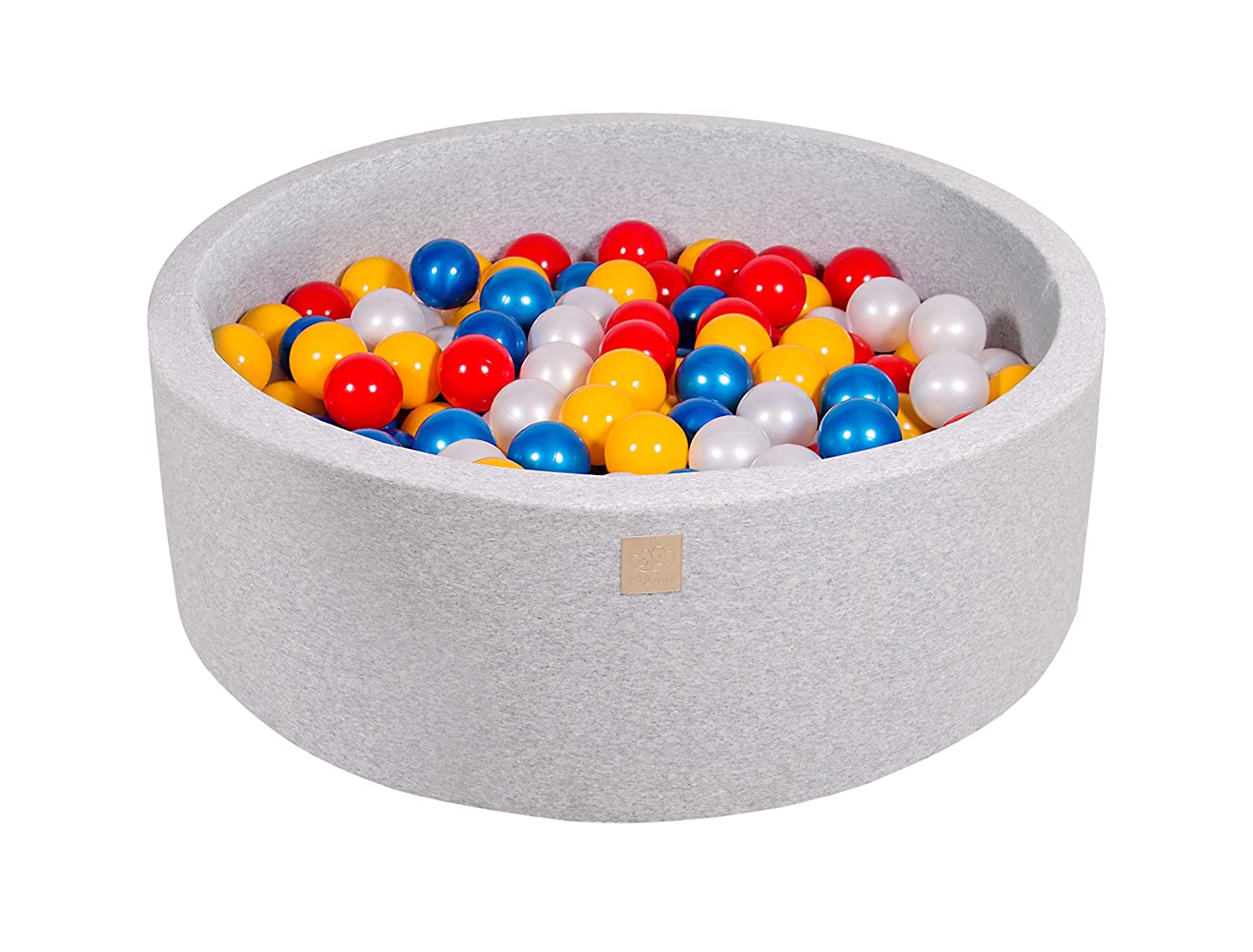 90x30//200 Balls, ight Grey:Light Pink//Grey//White Pearl//Transparent MEOWBABY 90X30cm//200 Balls /∅ 7Cm Baby Foam Ball Pit Ball Pool Certified Made In EU