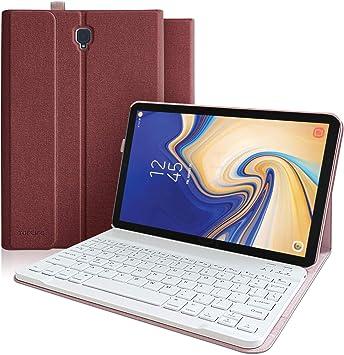 Funda Teclado Samsung Galaxy Tab S4 10.5 SM-T830/T835/T837, Funda Delgada Magnética con Smart Auto Sleep-Wake y Teclado Español(Incluye Ñ)Bluetooth ...