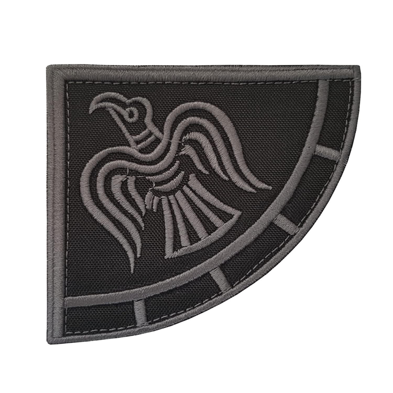 Subdued Rare Viking Raven Banner ACU Odin God of War エンブロイダリー ベルクロ面ファスナー パッチ Patch   B01MTU3XYZ