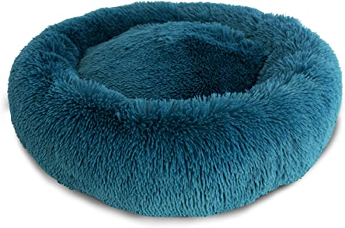 Ultra Plush Shaggy Round Donut Dog Pet Bed