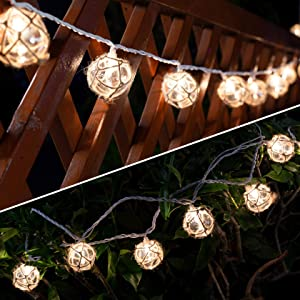 Nautical Fish Float String Lights Outdoor, Beach String Lights Set of 10 Clear G50 Ball Nautical Float Lights String for Room Wall Decor Outdoor Patio Decorations