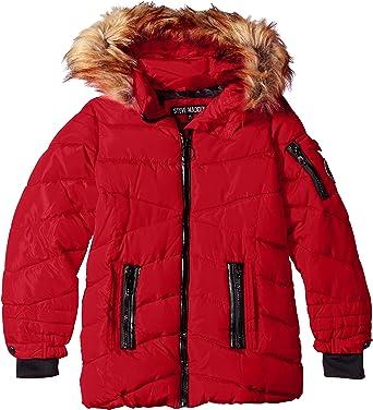 Steve Madden Girls Memory Signature Puffer Jacket O/_A1102H