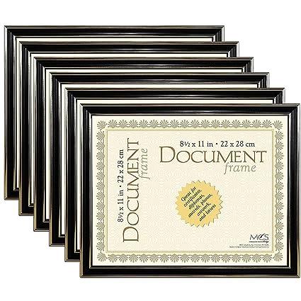 Amazon.com - ECONOMY Document Black w/gold accent ABS acrylic frame ...