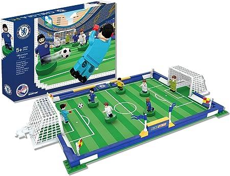 Juega y construye el campo de fútbol NANOSTARS del Chelsea FC (Producto Oficial Licenciado),Juguete