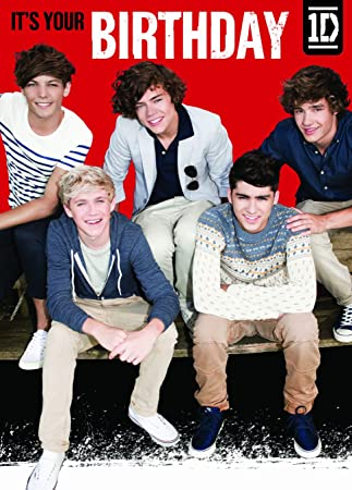 1d One Direction Birthday Card Its Your Birthday Amazon