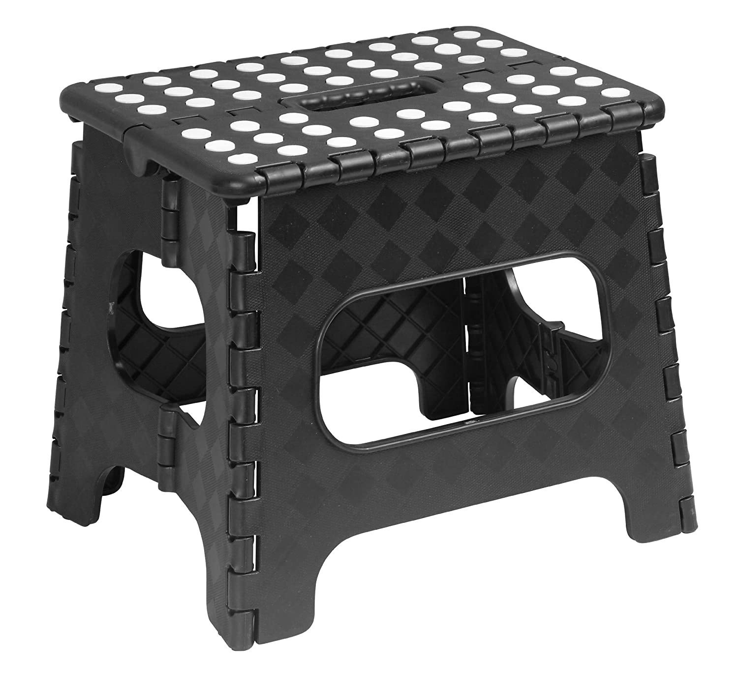 Superior Folding Step Stool with Dots 11 Inch Black Superior Performance Inc 254BK