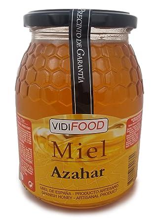 Miel de Azahar - 1kg - Producida en España - Alta Calidad, tradicional & 100