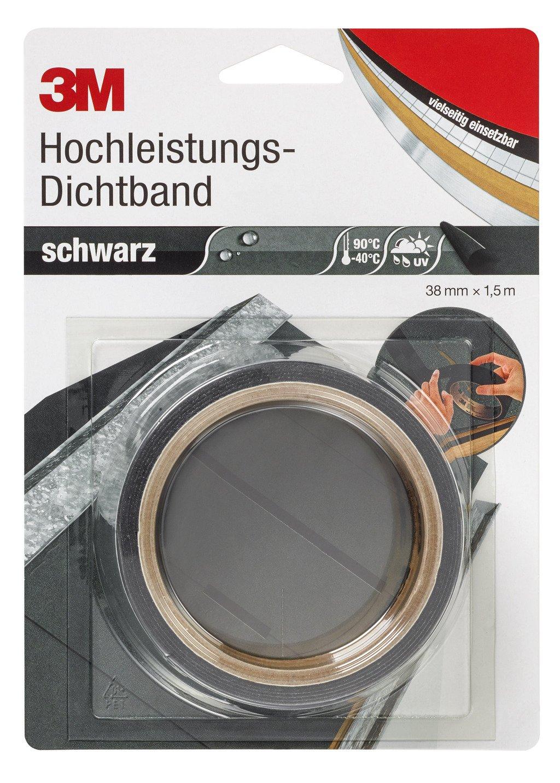 3M Deutschland Dichtband DICHT38S 38mmx1,5m, schwarz Klebeband 4046719962105 3M Deutschland GmbH UU001630001