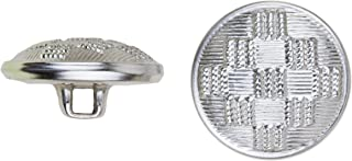 product image for C&C Metal Products 5036 Ribbed Diamond Pattern Metal Button, Size 45 Ligne, Nickel, 36-Pack
