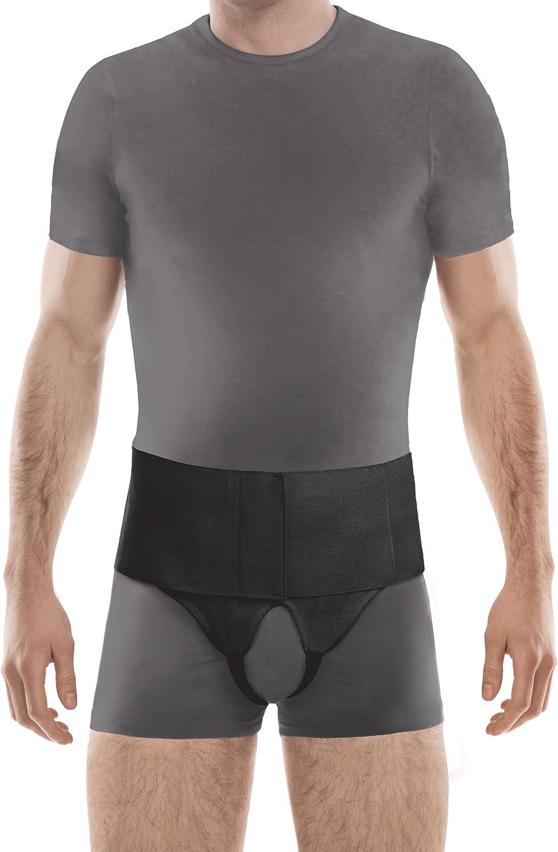 TOROS-GROUP cinturón de hernia inguinal doble Large Negro