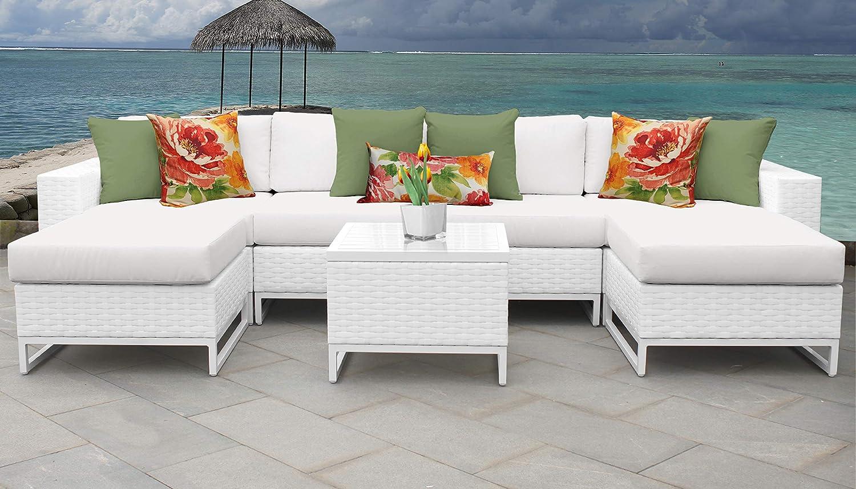 TK Classics MIAMI-07b Miami Seating Outdoor Furniture, Sail White