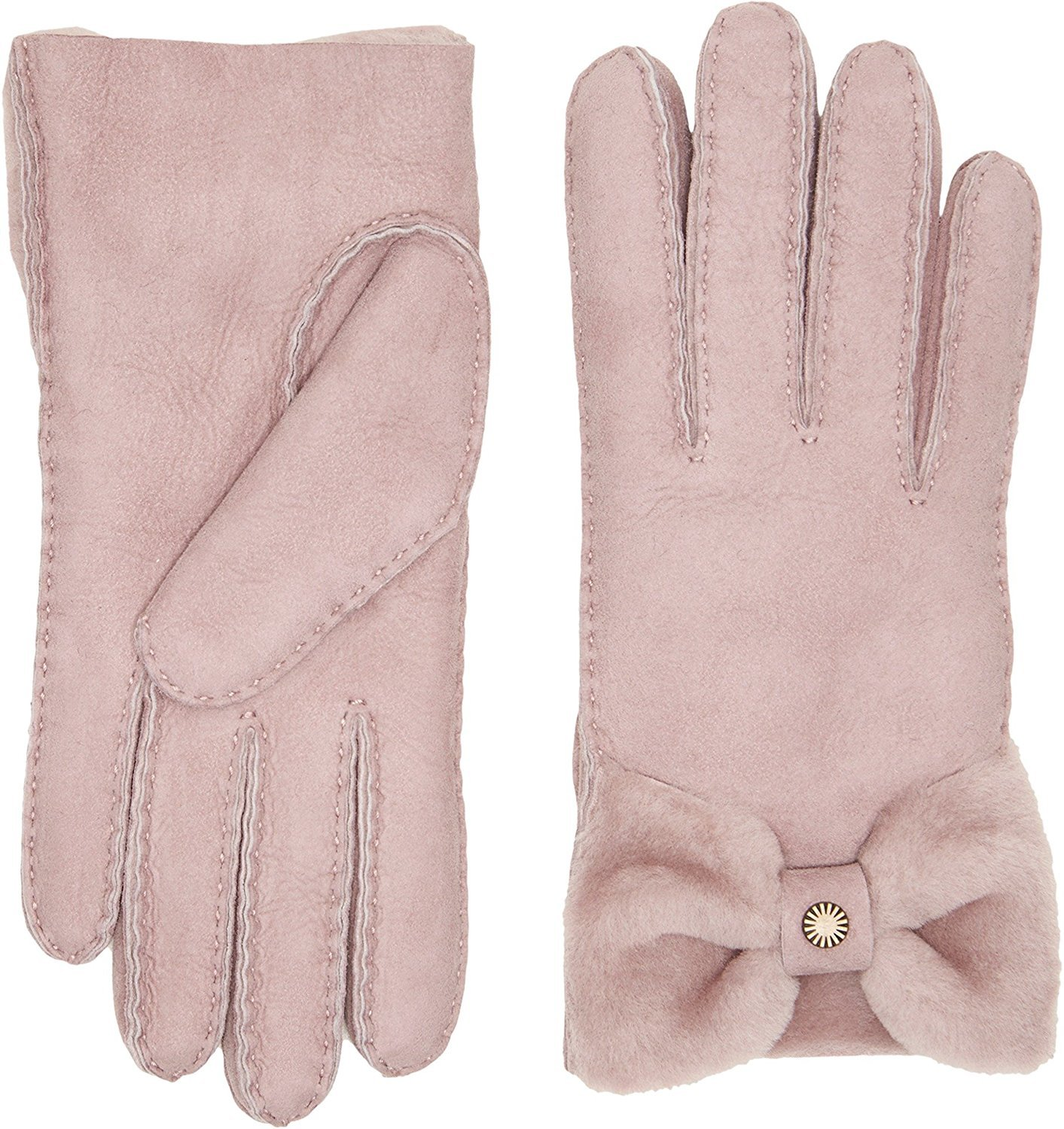 UGG Women's Bow Waterproof Sheepskin Gloves Dusk MD by UGG