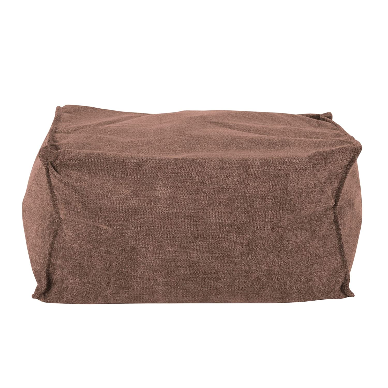 Lounge Pug Bean Bags Small Bean Bag Footstool Lounge Pug BRISTOL FLOCK- GRAPHITE GREY - Size 20cm H x 35cm D x 45cm Wide