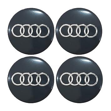 Centro de rueda de Audi Logotipo de adhesivo Aleaciones de la rueda Cap adhesivo llantas Juego de 4: Amazon.es: Coche y moto