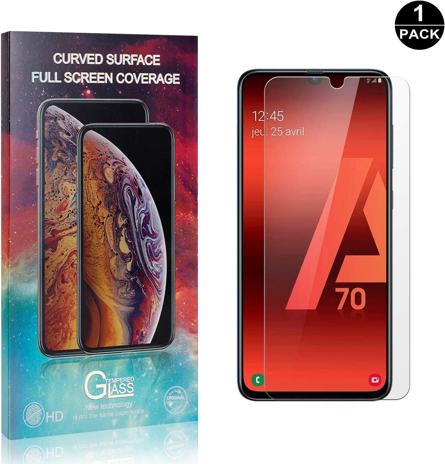 1 Pezzi Facile da Pulire Bear Village/® Vetro Temperato per Galaxy A70 Anti Graffio 3D Touch Pellicola Protettiva in Vetro Temperato per Samsung Galaxy A70