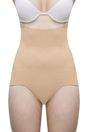747b5de9d Lace And Me Women s Polyester Cotton Spandex Wire No Rolling Down Tummy  Tucker Shapewear(