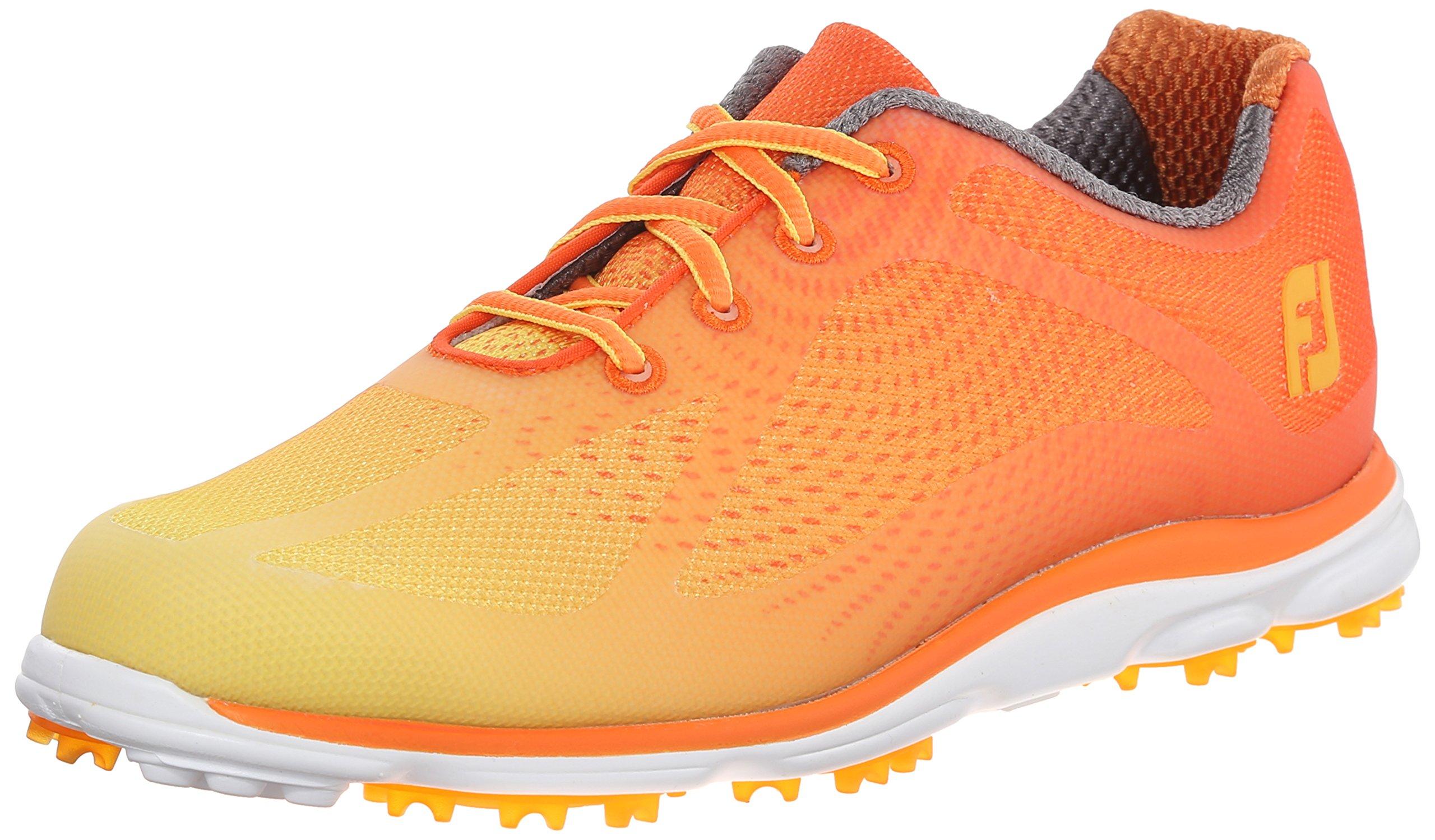FootJoy EmPower Spikeless Golf Shoes CLOSEOUT 2015 Women Orange/Yellow Medium 6
