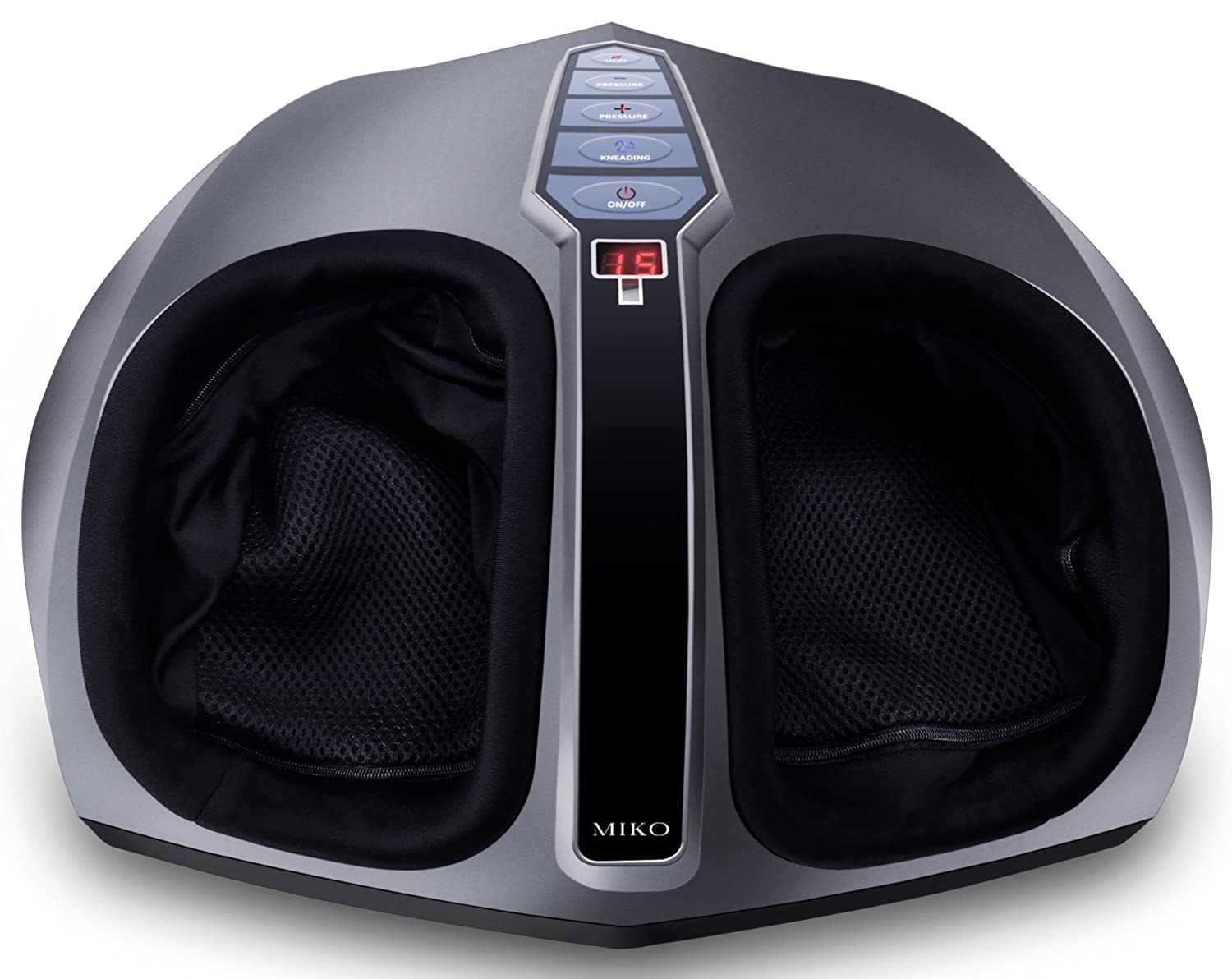 Amazon.com  Miko Shiatsu Foot Massager With Deep-Kneading, Multi-Level  Settings, And Switchable Heat Charcoal Grey  Health   Personal Care df42986cf9b