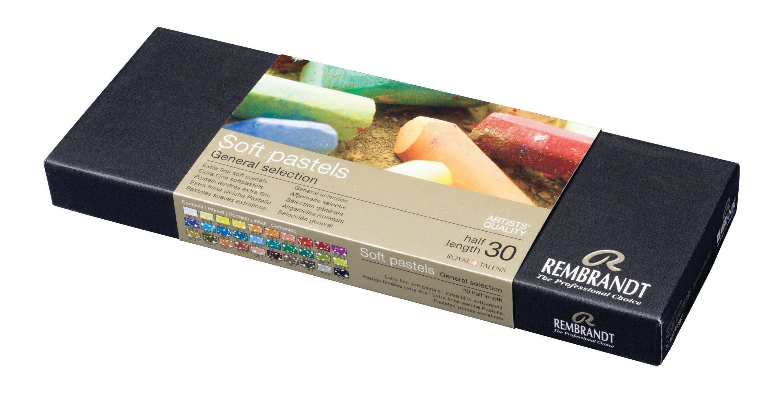 Rembrandt Soft Pastels Basic 30 Half Stick Set 300C30.5 by Talens