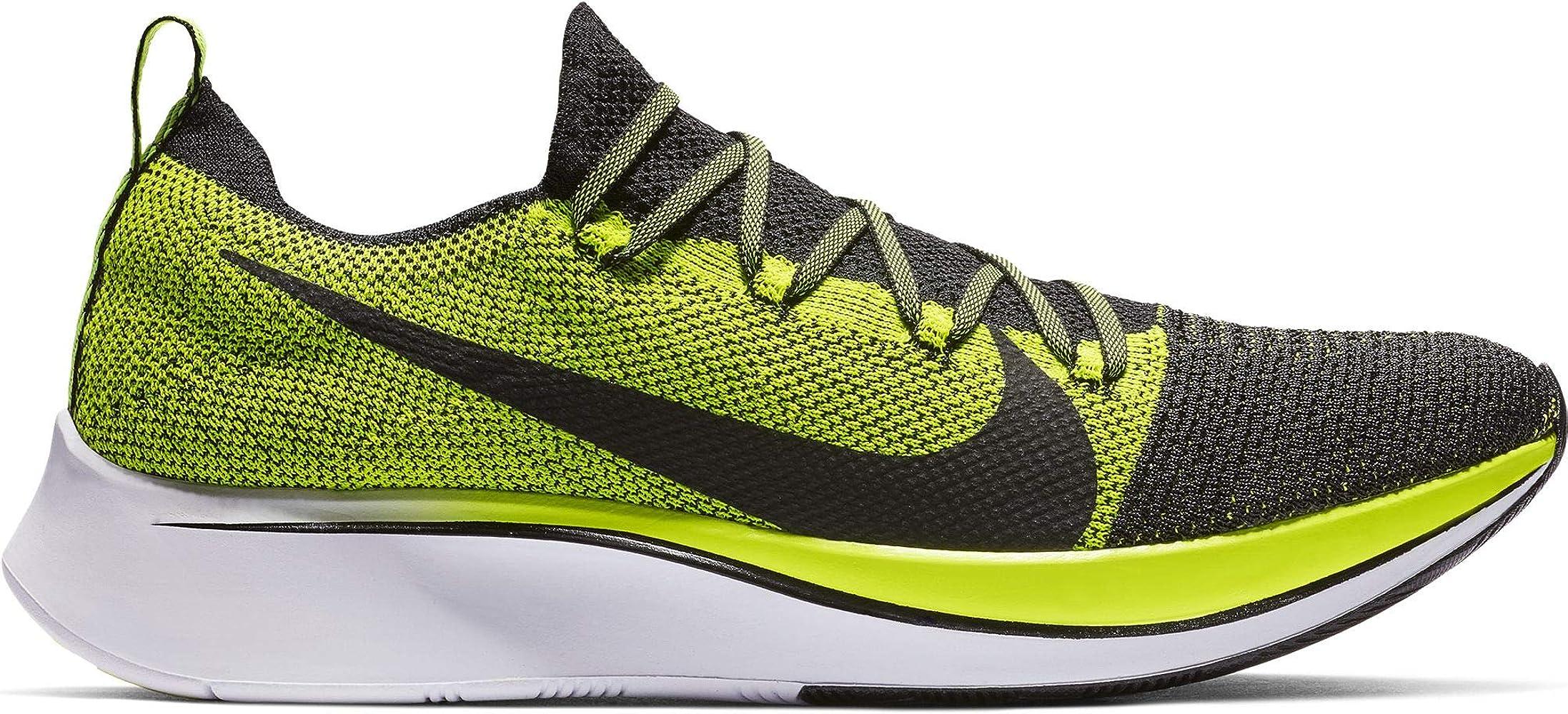 Nike Zoom Fly Flyknit Men's Running Shoe Black/Black-Volt-White Size 12