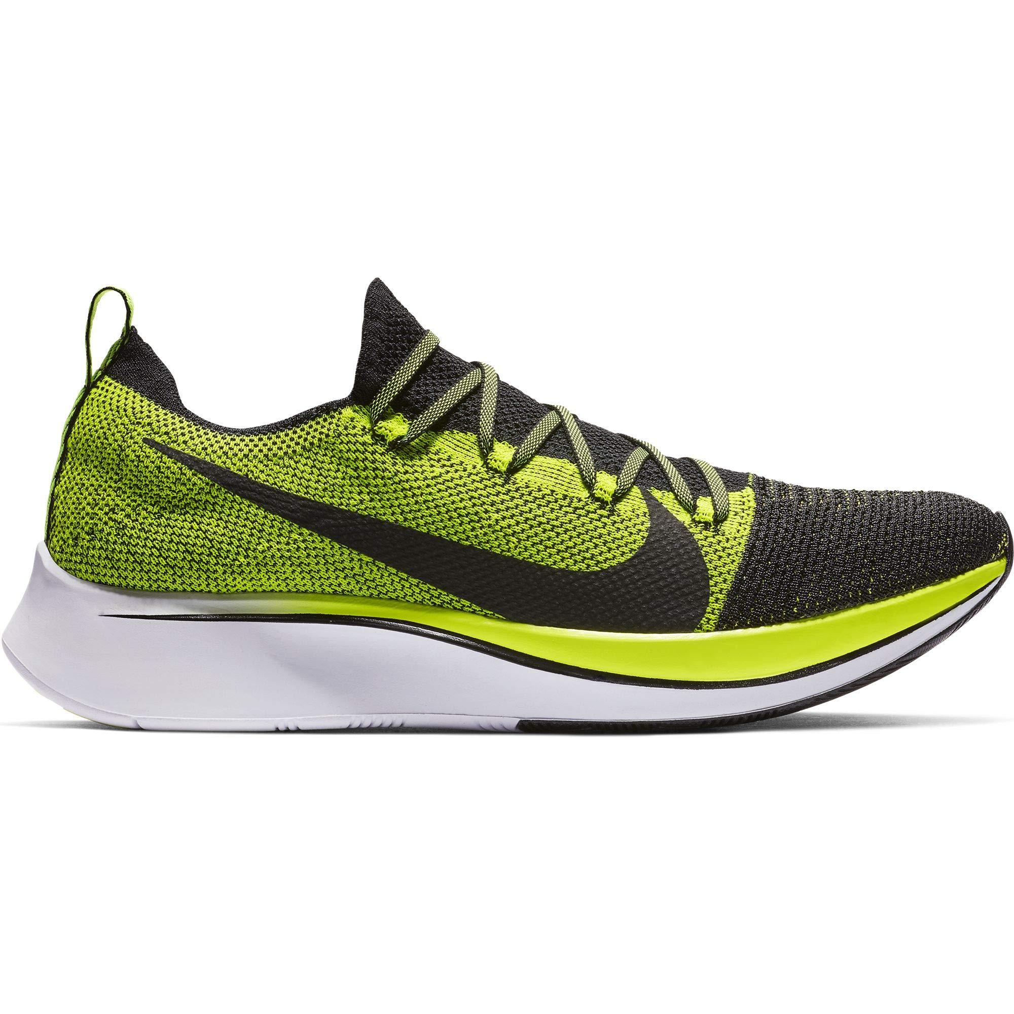 Nike Zoom Fly Flyknit Men's Running Shoe Black/Black-Volt-White Size 8 by Nike (Image #1)