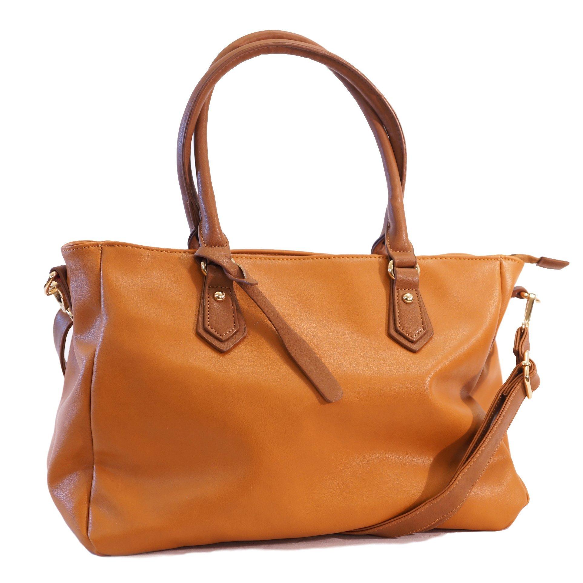 Got Oil Supplies Essential Oils Hobo Bag for Women - Brown Designer Handbag Purse with 16 Elastic Pockets