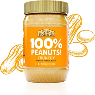 product image for Crazy Richard's Crunchy Peanut Butter, 100% Natural, Non-GMO, Gluten-Free, 16 Ounce Jars (Pack of 6)