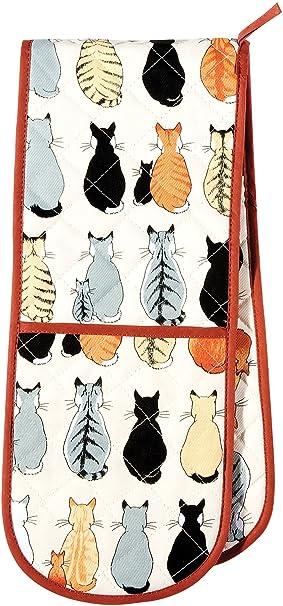 Ulster Weavers - Manopla doble para horno, diseño con gatos: Amazon.es: Hogar